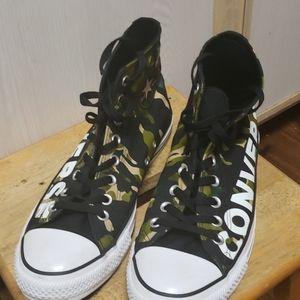 Brand new camo converse sneakers